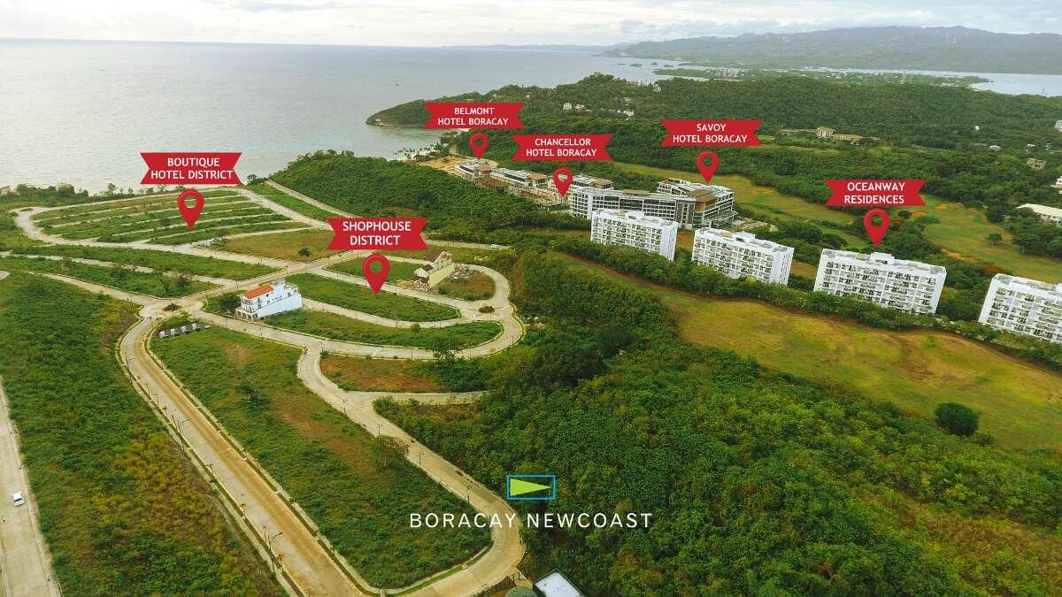 Location of Boracay Newcoast Properties